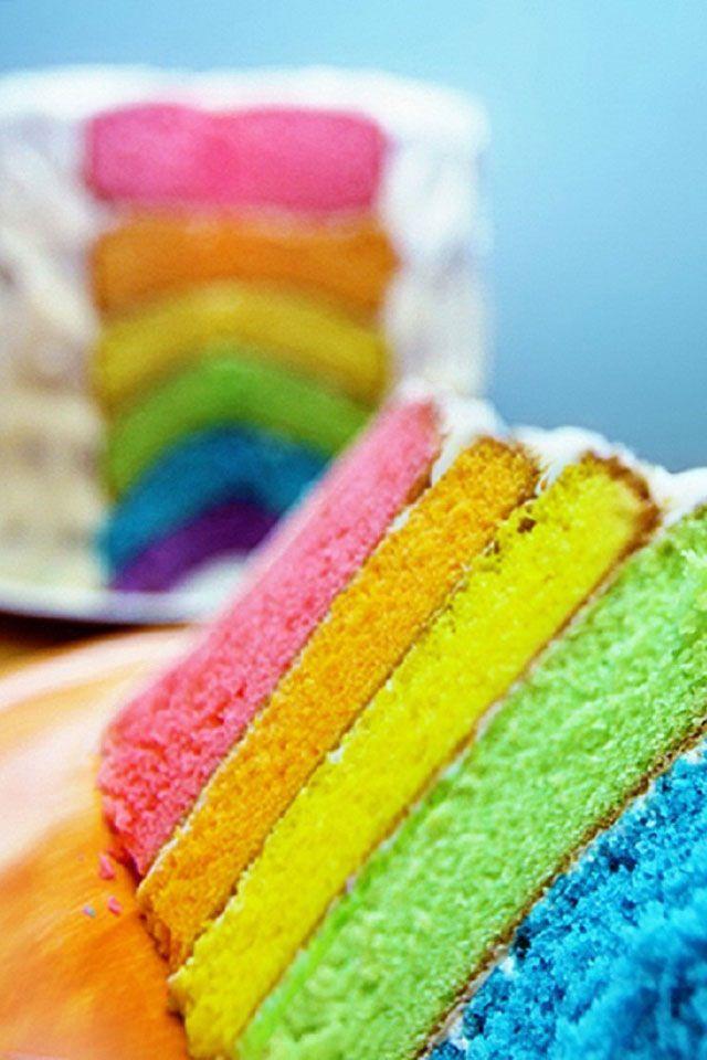 A rainbow cake