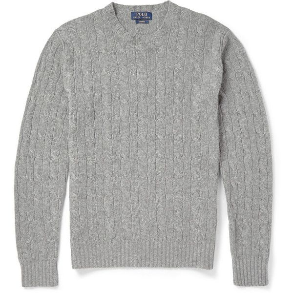 Polo Ralph Lauren Cashmere Cable-Knit Sweater ($400) ? liked on Polyvore  featuring