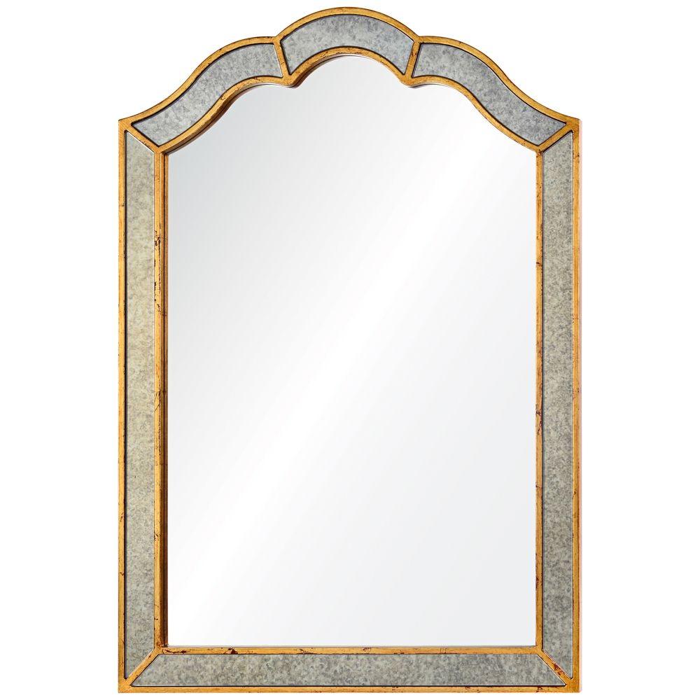 Huntington Antiqued Gold 36 X 42 Framed Wall Mirror Style 9k131 Framed Mirror Wall Frames On Wall Mirror Wall