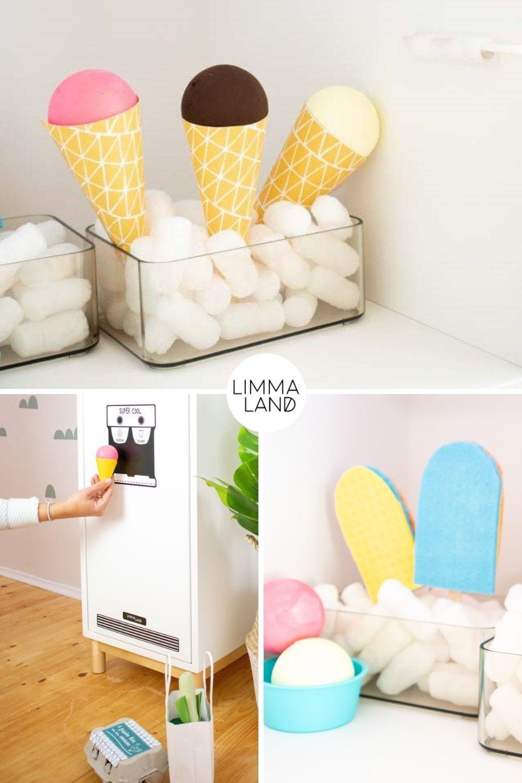 DIY Eis Spielzeug für den Kaufladen und die Kinderküche