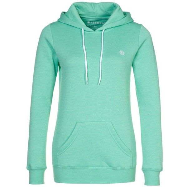Element ROMA Hoodie (77 CAD) ❤ liked on Polyvore featuring tops, hoodies, jackets, turquoise, women's outerwear, element hoodie, green hooded sweatshirt, element hoodies, hooded pullover and hoodie top