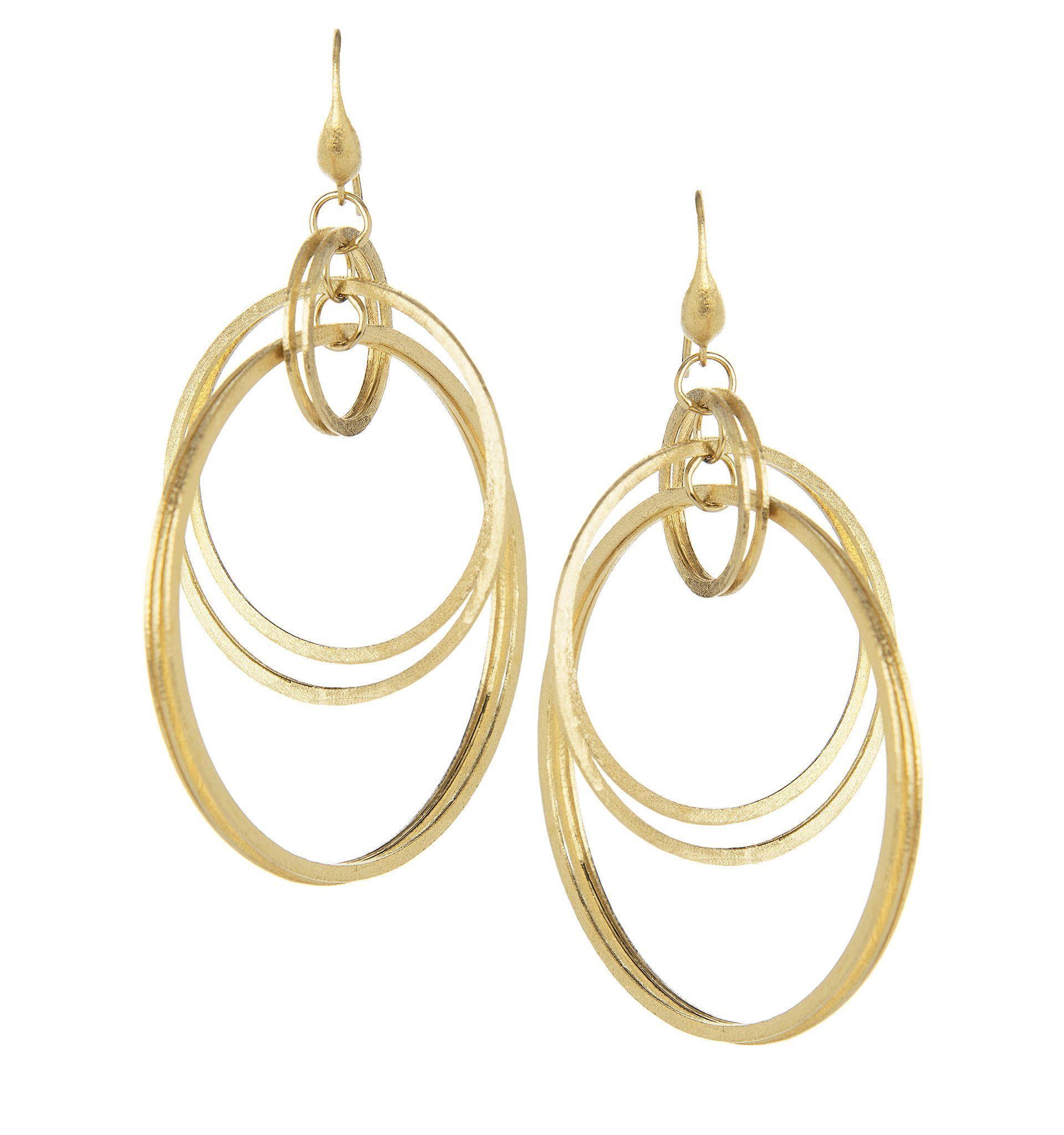 Satin Multi Ring Earrings