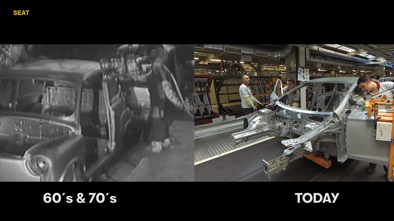 Then and now Splitscreen video shows how car production