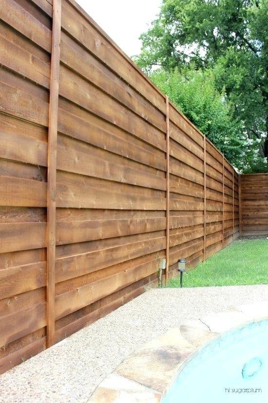 Horizontal Fence Designs Gorgeous Horizontal Wood Fence