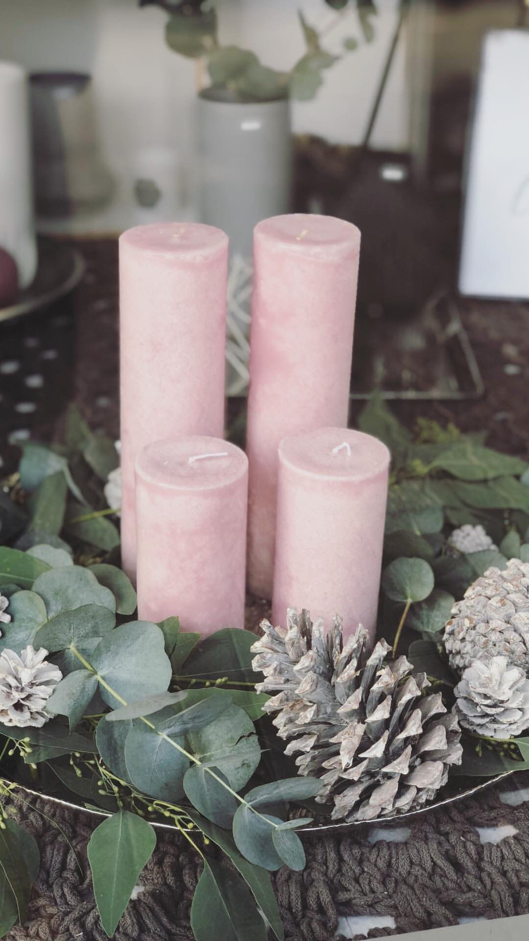 Adventskranz mit Eukalyptus #gemütlicheweihnachten