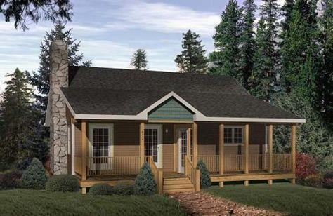 Cabin Style House Plan 2 Beds 1 Baths 962 Sq Ft Plan 22 116 Country Cottage House Plans Country Style House Plans Cottage Style House Plans