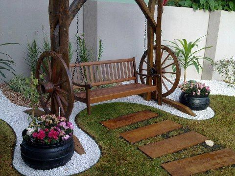 Jardim jardim area externa pinterest jardins for Decoracion casa judia