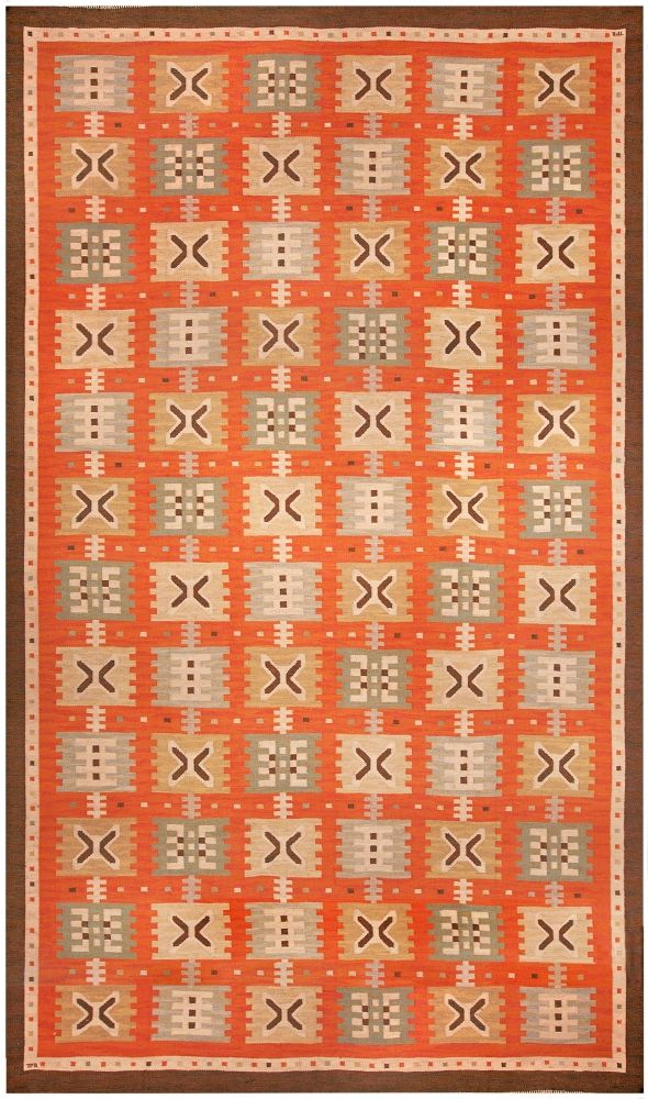 Scandinavian Rugs, Swedish Rugs: Swedish rug, Scandinavian Rug (vintage) for Scandinavian interior decor