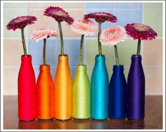 Floreros primaverales hechos con botellas recicladas for Como construir piletas de material