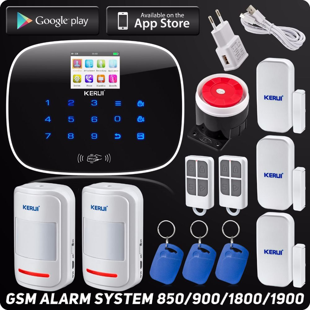 Kerui G19 Wireless Wired App Controlled LCD GSM SMS RFID Autodial ...