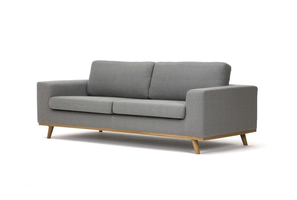 Hardy 3 seater sofa, Oxford silver grey