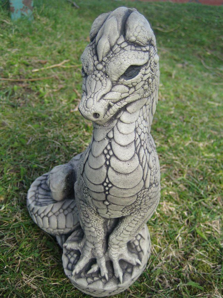 Standing dragon stone garden ornament   Garden ornaments ...