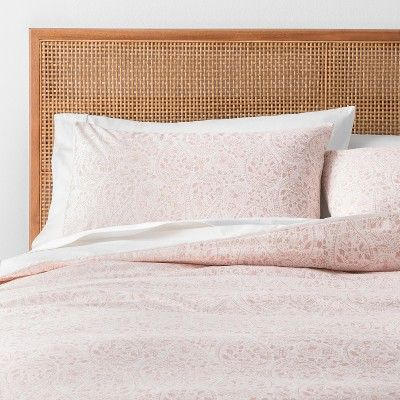 Blush Paisley Print Duvet Cover Set Twin Twin Xl