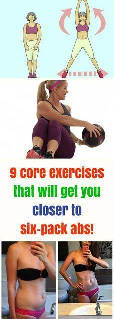 9 Core Exercises That Will Get You Coser To Six-Pack ABS!!! #exercises #abs #sixpack #fitness #worko...
