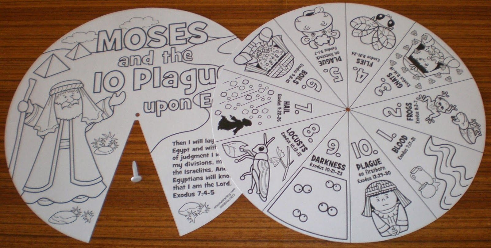 Petersham Bible Book Amp Tract Depot Colour Your Own 10 Plagues Wheel Moses Pinterest