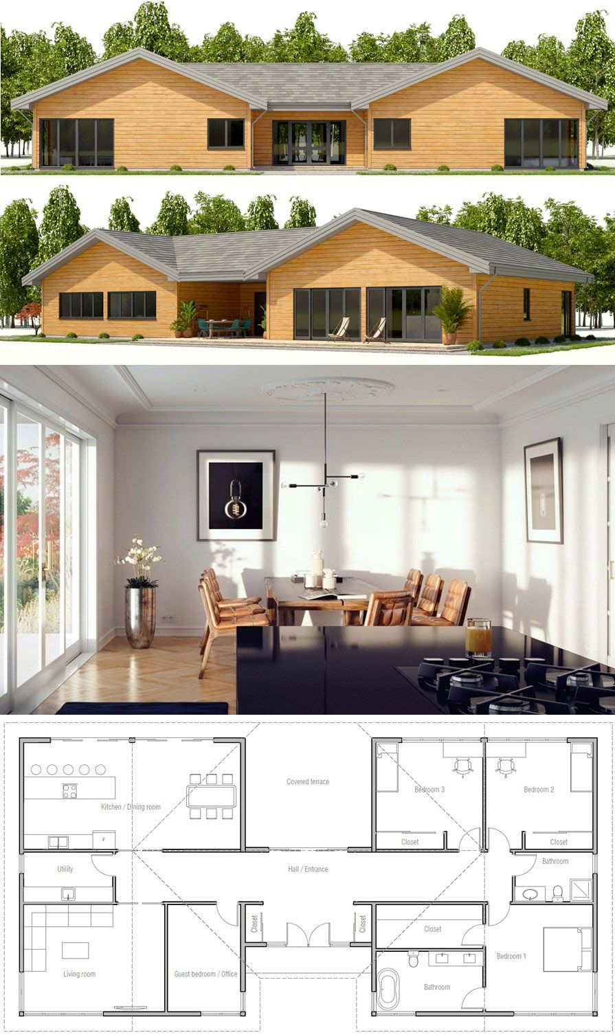 House Designs Housdesign Housedesigns Homedecor Newhome Small Modern House Plans Rancher House Plans New House Plans