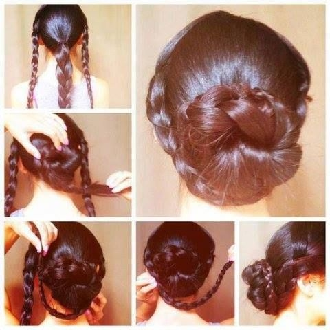 Formal Hairstyles At Home : Pics for u003e easy hairstyles long ha half up down