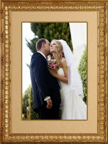 Custom framed wedding photo created by designer Art and Frame ...