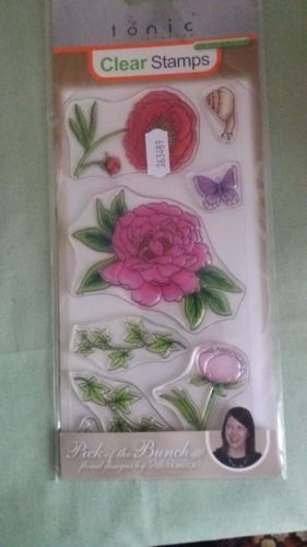 Tonic-Pick-Of-The-Bunch-Stamp-Set-Peony-flowers-snail-butterfly