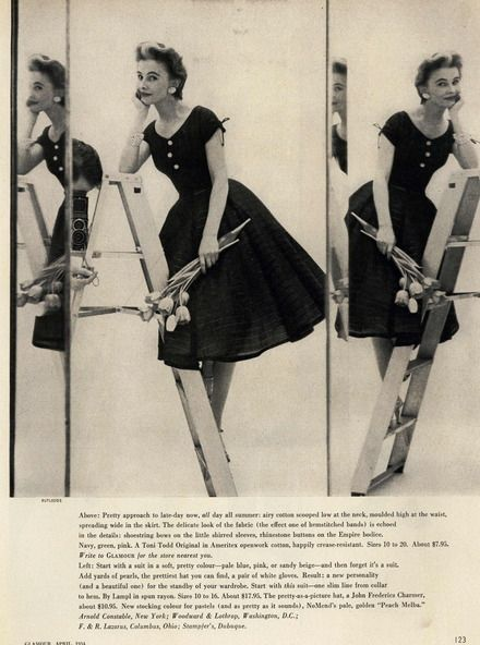 Glamour Editorial Clothes That Make You Beautiful, April 1954