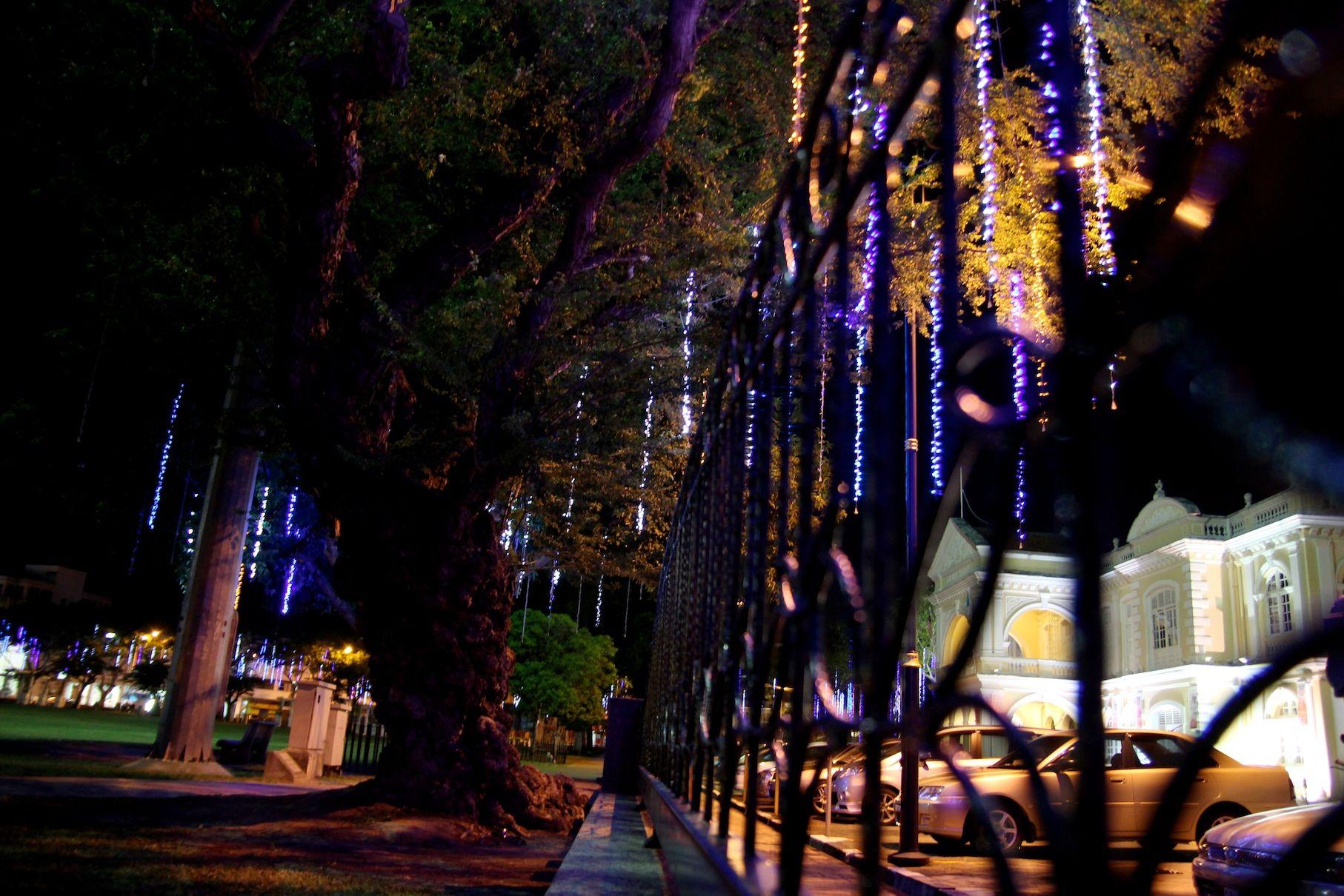 Night View At Padang Kota Lama Penang Malaysia Penang Malaysia Night Bokeh Landscape