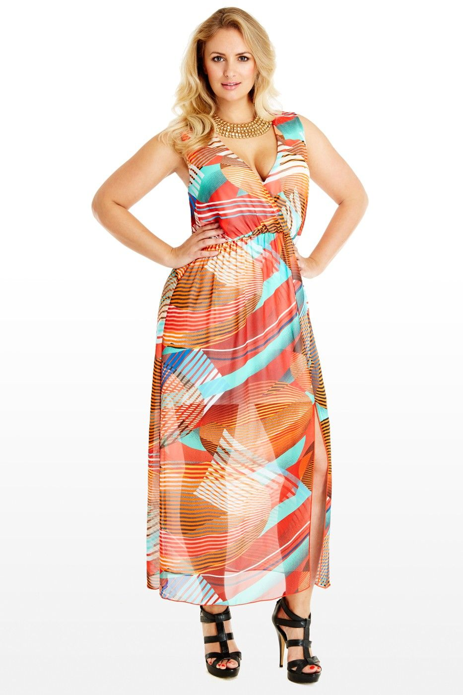 Chiffon Geo Maxi Dress, perfect for this summer - Fashion to Figure