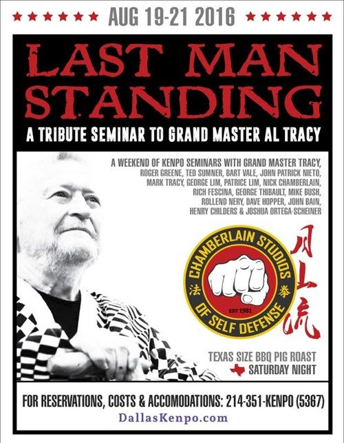 Al Tracy Last Man Standing 2016 Seminar Flyer Tai Chi and Qigong - Seminar Flyer