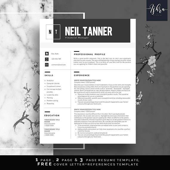 Modèle de curriculum vitae professionnel format CV DIY - professional profile template