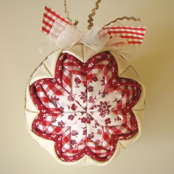 folded fabric christmas ornament - in polish! Christmas - polish christmas decorations