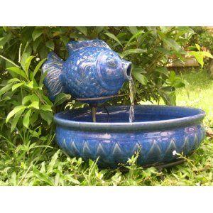 Smart Solar 23470R01 Solar Powered Ceramic Fish Fountain