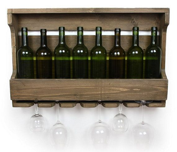 Wine racks Wine Rack Shelf Wall Bar Distressed Wine Rack