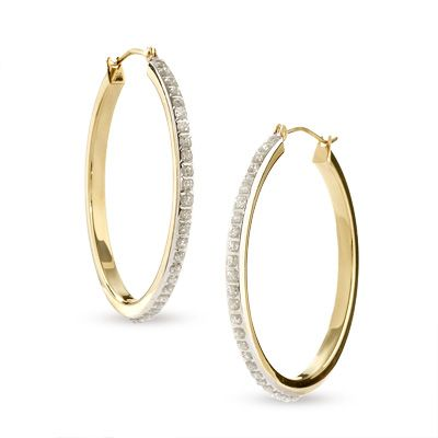 Diamond Fascination Large Round Hoop Earrings In 14k Gold Women S Jewelry Earrings Diamond Hoop Earrings Hoop Earrings