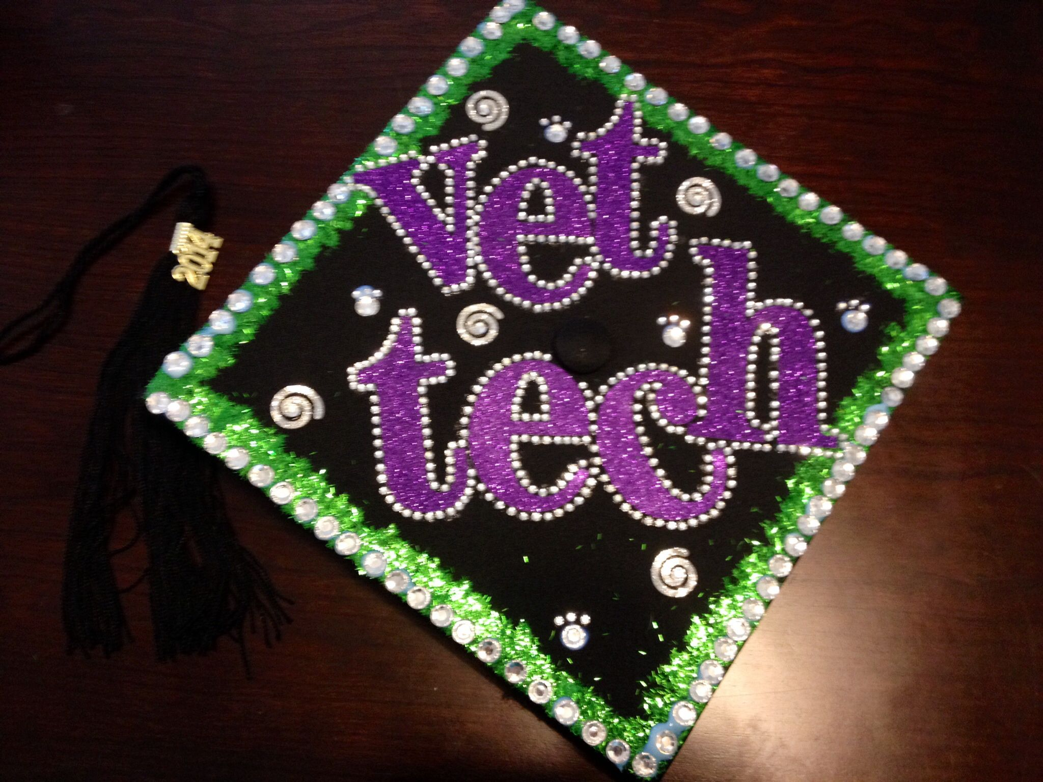 Graduation cap decoration from vet tech school  Vet Tech Life  Graduation cap decoration Grad