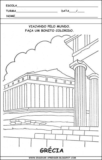 Atividades Sobre A Casa Colorindodesenhos Arte Grega Antiga
