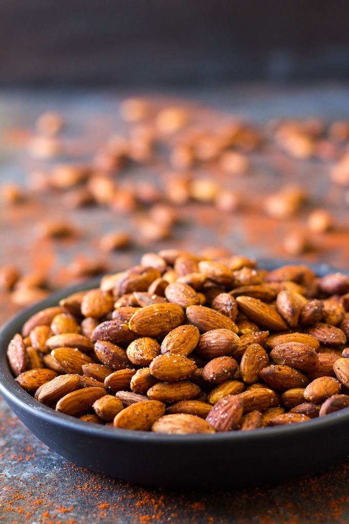 Easy Chipotle Roasted Almonds Paleo Vegan