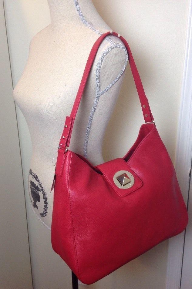 NWT KATE SPADE Red Jamie Chrystie Street Leather Shoulder Hobo Bag WKRU2585   katespade  ShoulderBag b6b32fc33cc4c