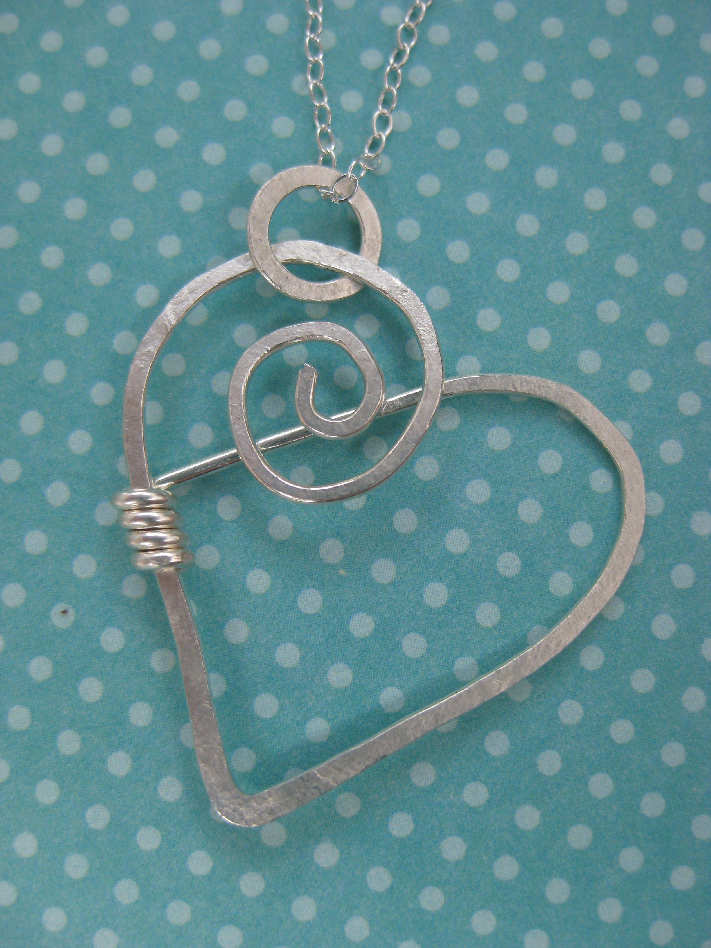 Crossley Design. Sterling Silver Heart Necklace by Crossley Design ...