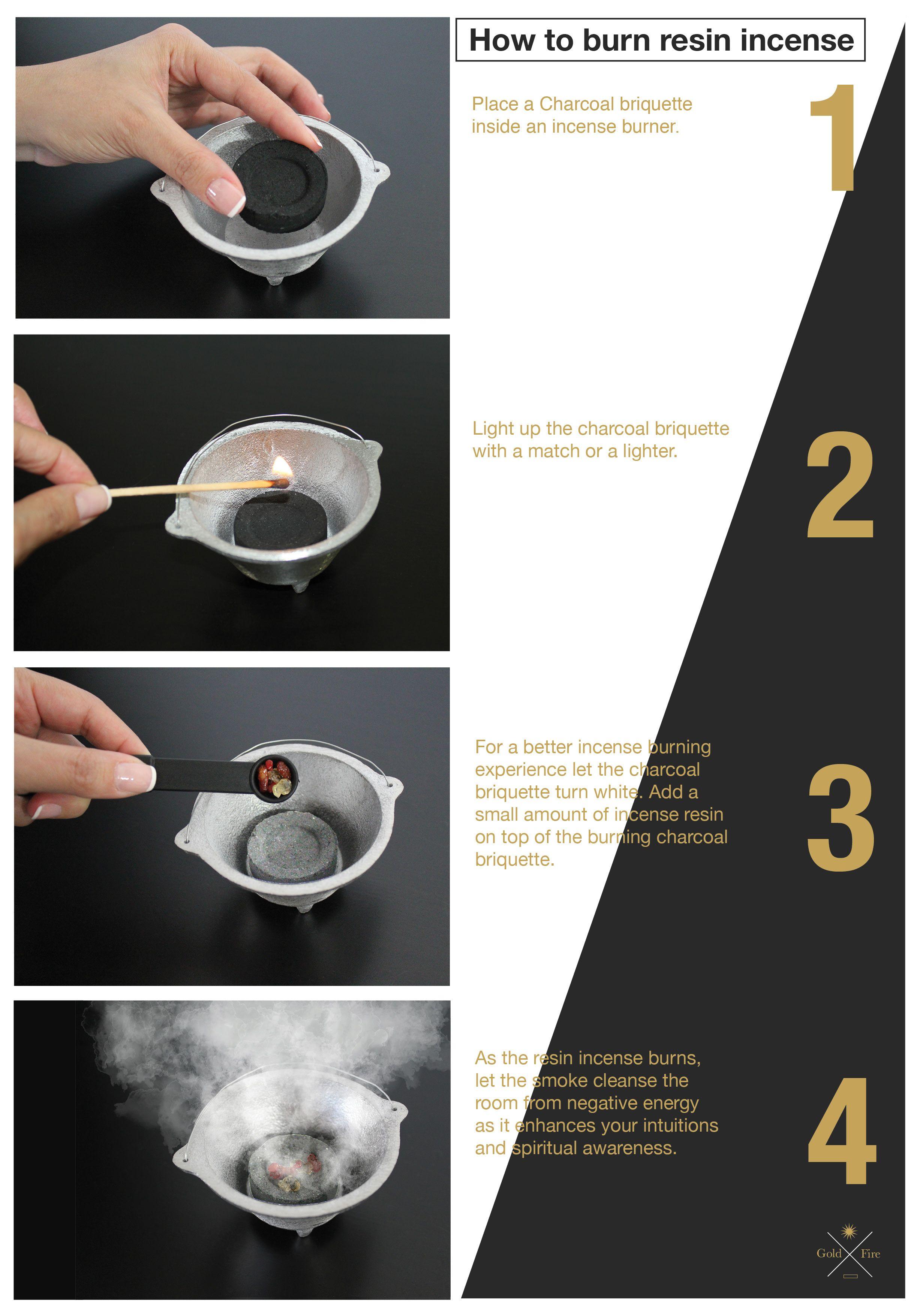 4 Easy Steps To Burn Resin Incense. Frankincense resin