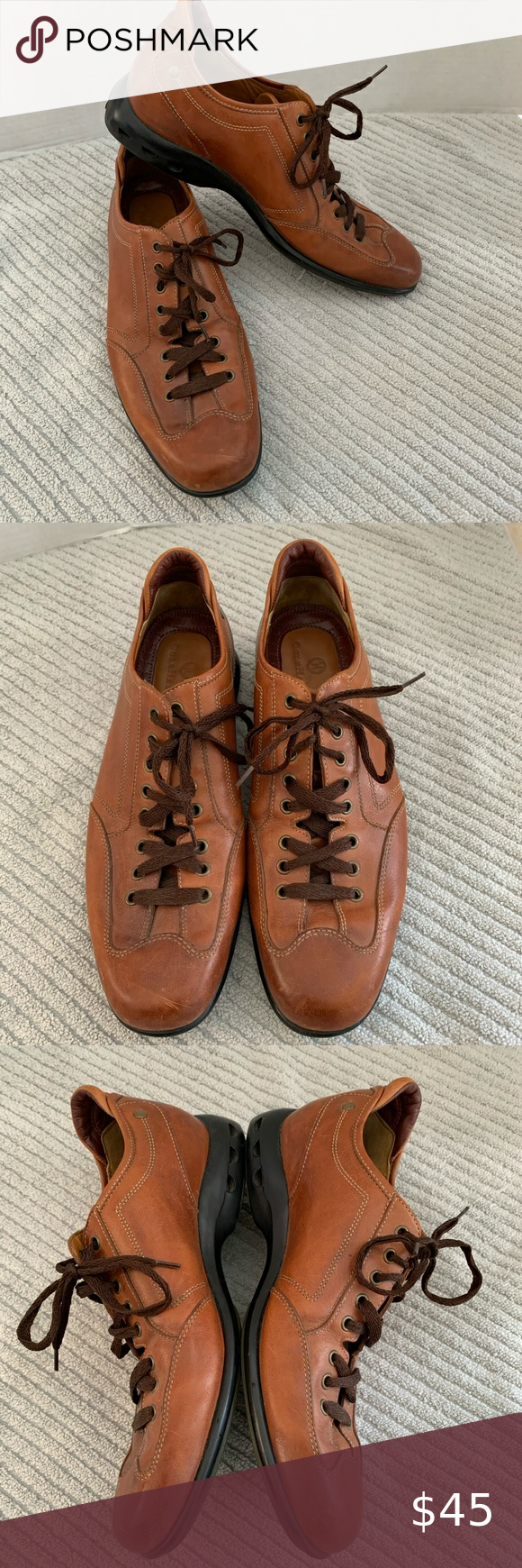 Cole Haan Nike Air Lace Up Tan Leather