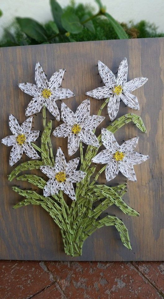 Daisy Flower Wall Art String Spring Home Decor Fl Wood Sign Gifts For Her Mother S
