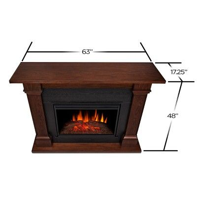 Real Flame Callaway Grand Chestnut Oak Portable Fireplace White Electric Fireplace Electric Fireplace