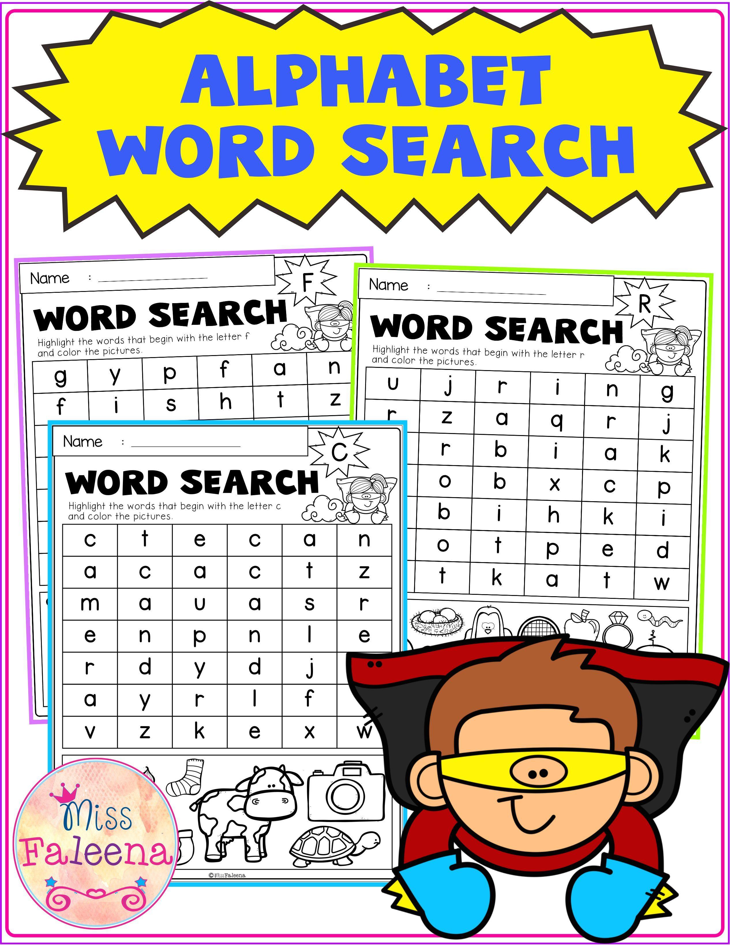 Alphabet Word Search