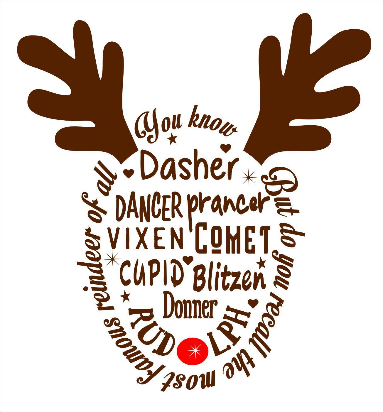 Reindeer names svg, reindeer names, names svg,Reindeer svg