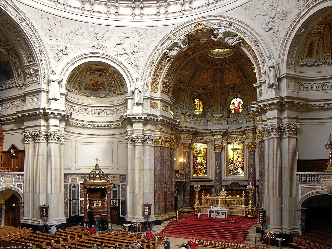 Baroque interior of berliner dom berlin cathedral rolf for Interior architecture berlin