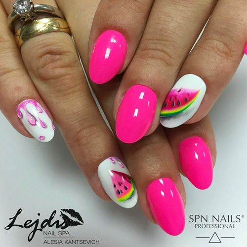 Best Summer Nails 31 Best Summer Nail Art For 2020 Hashtagnailart Com Trendy Nails Fruit Nail Art Watermelon Nails