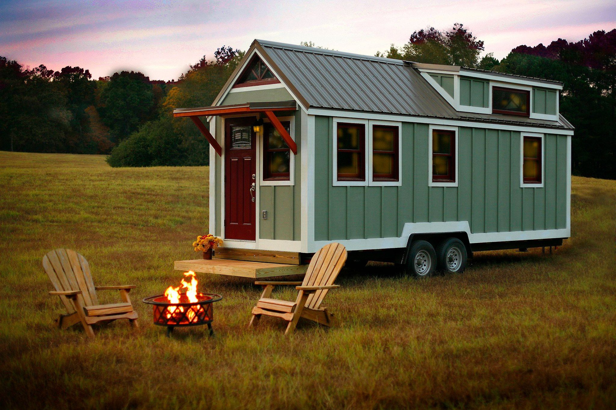 Stunning Sage Green Thow By Bear S Tiny Homes For Sale Tiny House Tiny House Company Tiny Houses For Sale