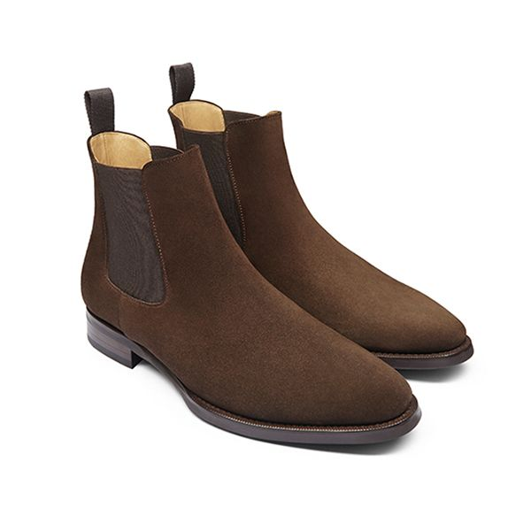 Suede Brown Chelsea Boots Mens