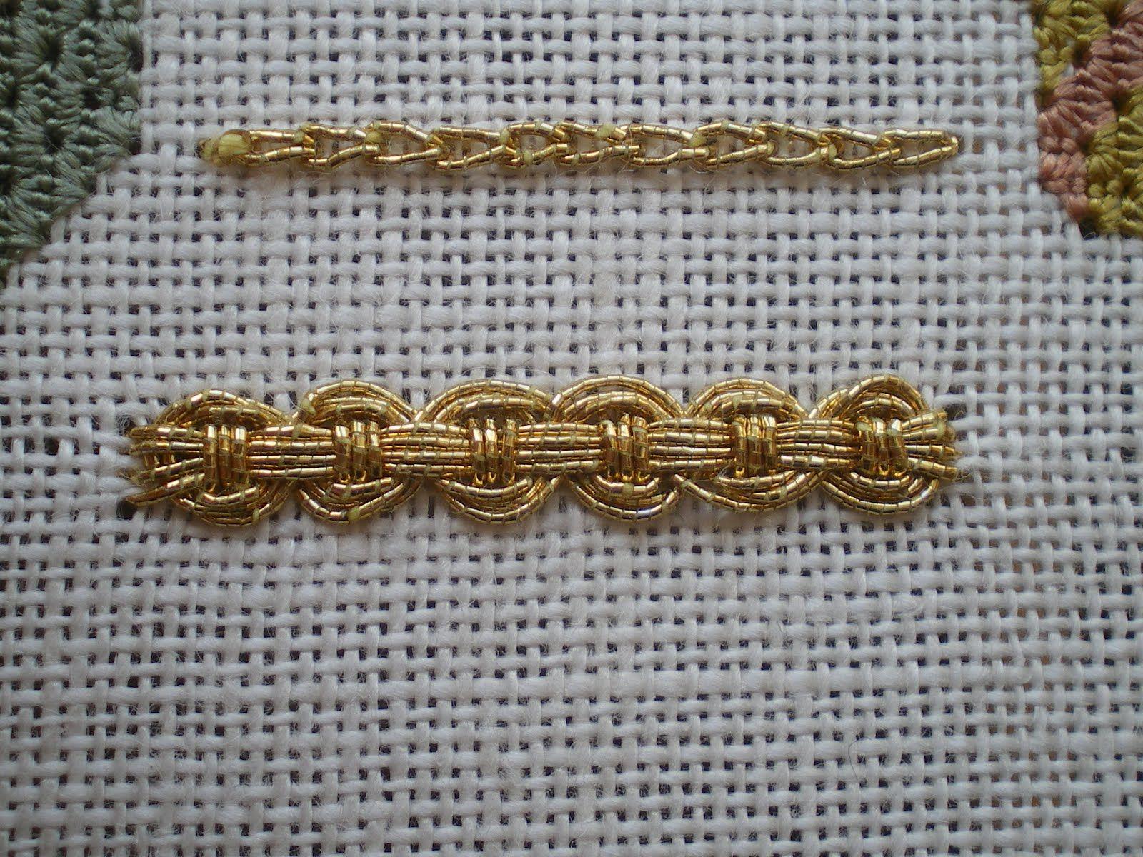 Guilloche stitch (bottom)   Thêu Thùa   Pinterest   Bordado ...