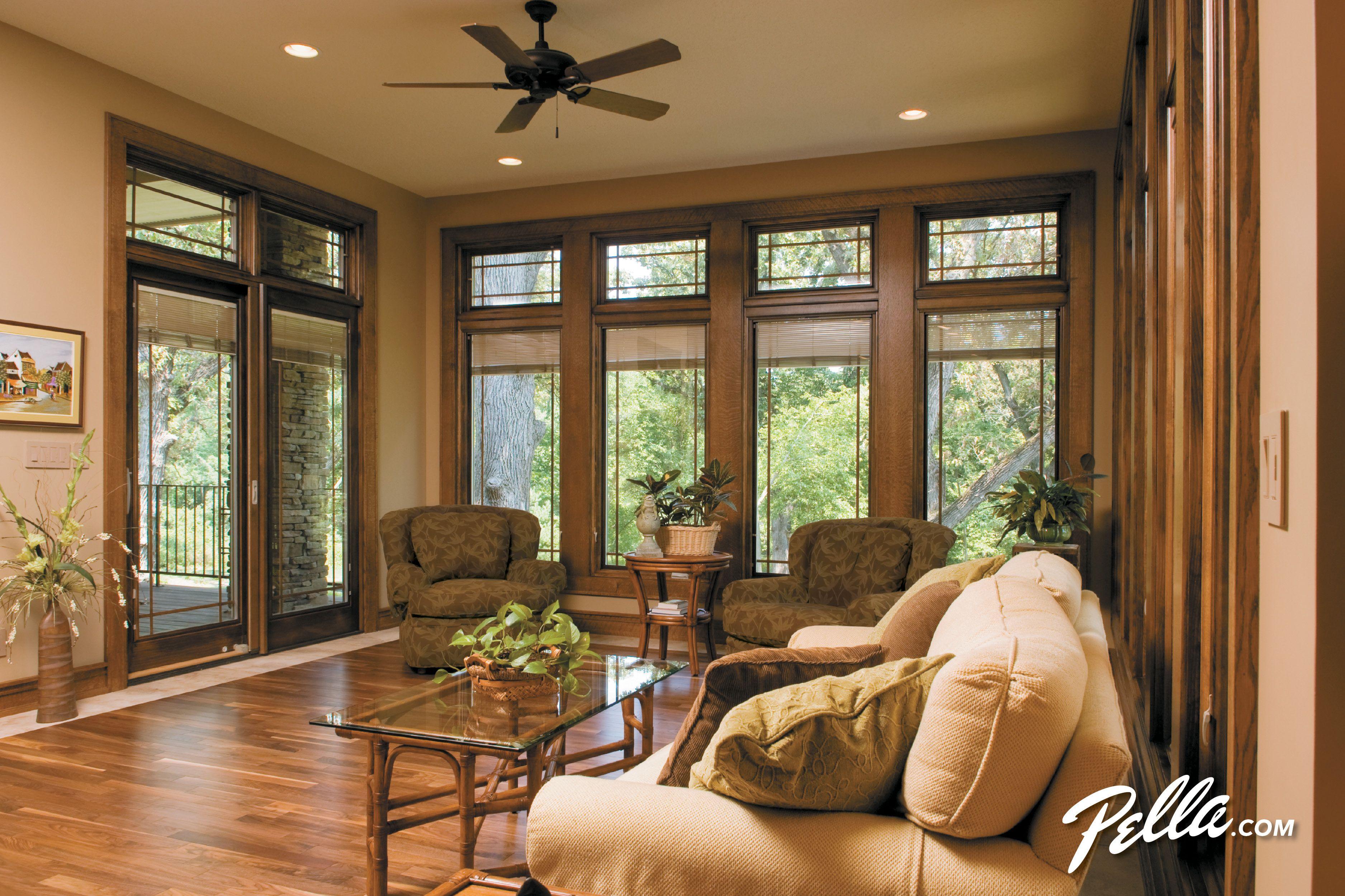 Create Floor To Ceiling Beauty With Pella Designer Series Casement Windows French Door Window Treatments Sliding Patio Doors Door Window Treatments