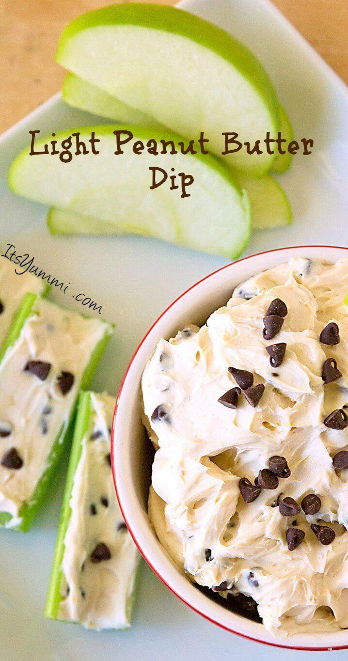 Healthier Chocolate Chip Peanut Butter Dip